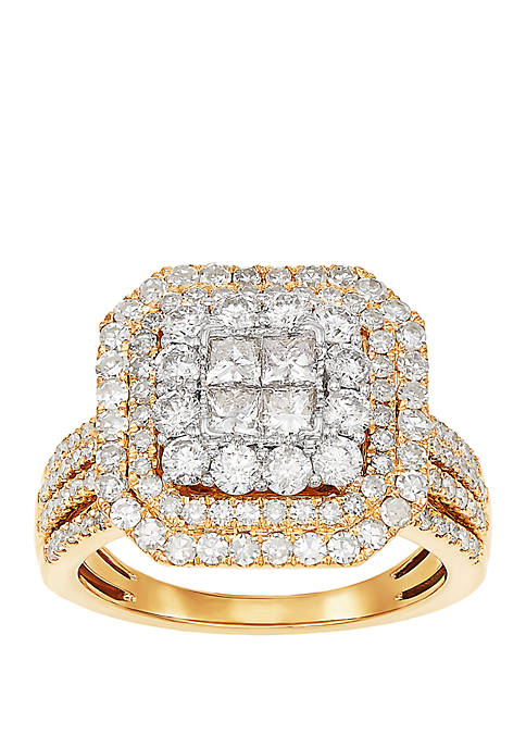My Forever 2 ct. t.w. Diamond Bridal Ring in 10k Yellow Gold