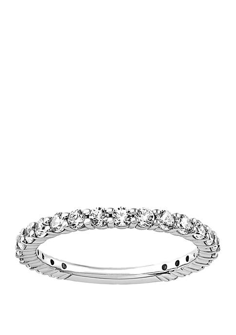 My Forever 3/4 ct. t.w. Diamond 3/4 Eternity Wedding Band in 10K White Gold