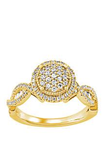 Belk & Co. 1/2 ct. t.w. Diamond Twist Ring in 10k Yellow Gold