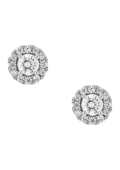 Grown With Love 1/2 ct. t.w. Lab Created Diamond Earrings in 10K White Gold