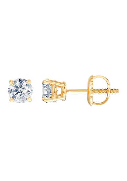 3/4 ct. t.w. Diamond Stud Earrings in 14K Yellow Gold