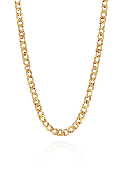 Belk & Co. Bevelled Curb Chain Necklace in