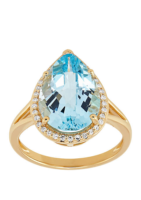Belk & Co. Blue Topaz Ring with 1/6