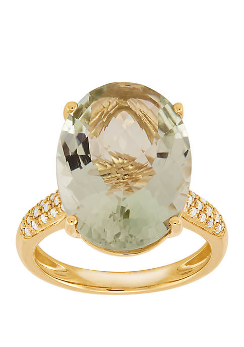 Belk & Co. Green Amethyst Ring with 1/6