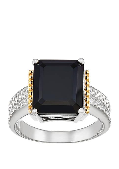 Belk & Co. Onyx Ring in Sterling Silver/14k