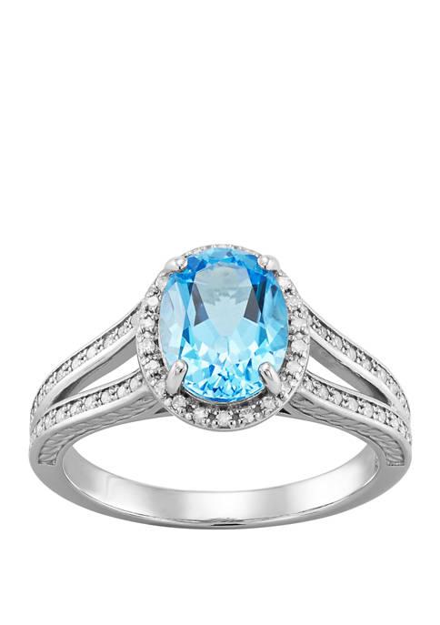 Belk & Co. Swiss Blue Topaz and Diamond