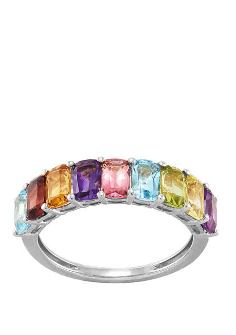 Belk & Co. Multicolored Gemstone Ring in Sterling