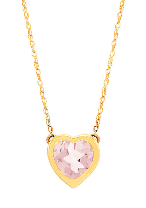 Belk & Co. Amy Heart 10K Yellow Gold