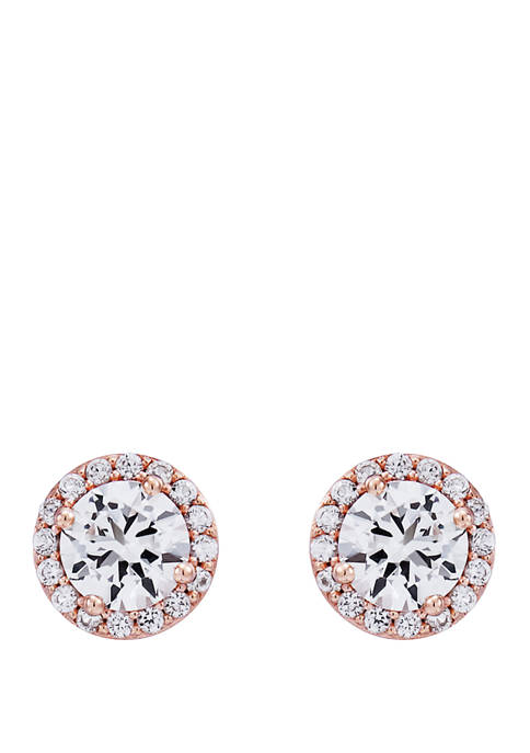 2.42 ct. t.w. Lab Created White Sapphire Earrings in 10k Gold