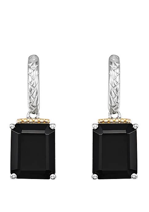 Belk & Co. Onyx Drop Earrings in Sterling