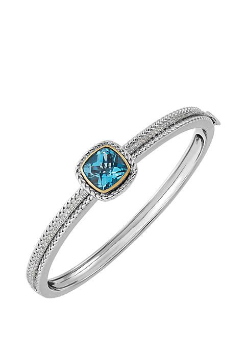 Belk & Co. Swiss Blue Topaz Bangle Bracelet