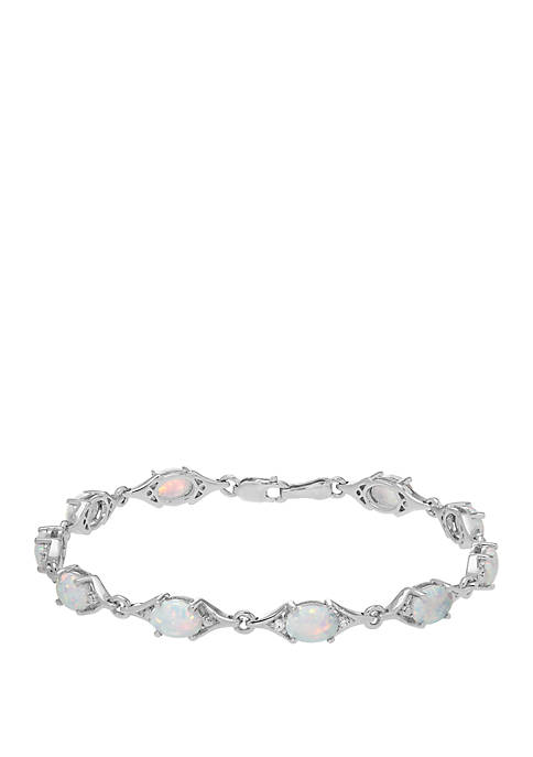 Belk & Co. Crystal Opal Link Bracelet In