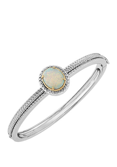 Belk & Co. Created Opal Bangle Bracelet in