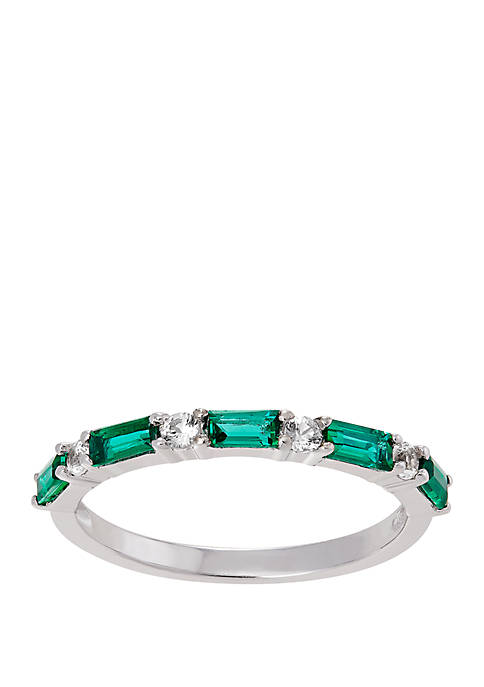 Belk & Co. Emerald Created Band Ring in