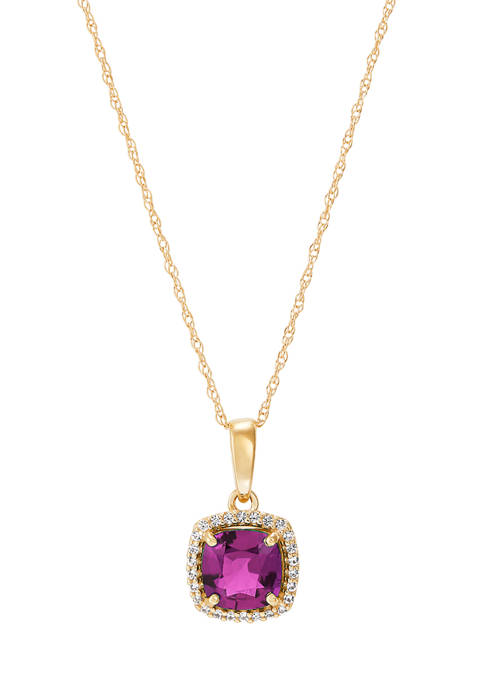 Belk & Co. Amethyst and Created White Sapphire