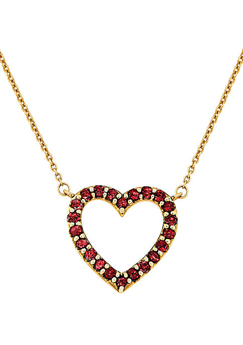 Belk & Co. Created Ruby Heart Pendant Necklace
