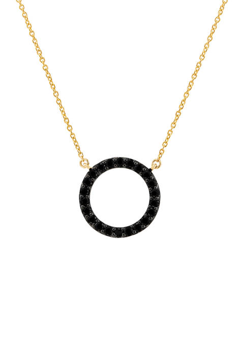 Belk & Co. Onyx Circle Pendant Necklace in