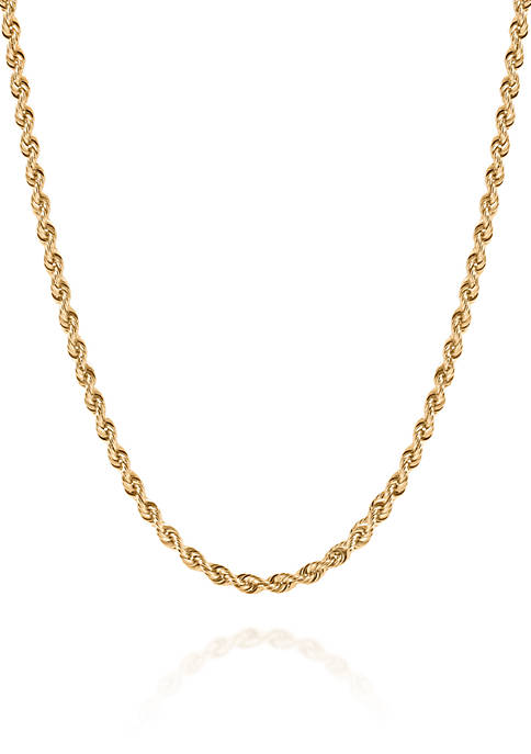 Belk & Co. Chain Rope Necklace in 10K