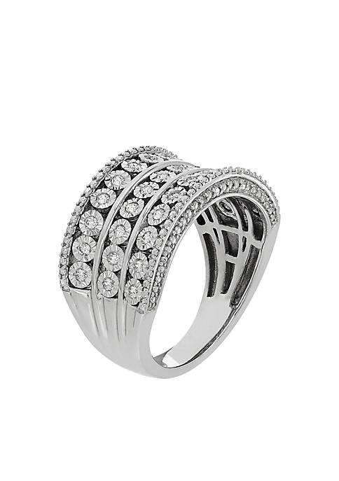 1/4 ct. t.w. Diamond Band Ring in Sterling Silver