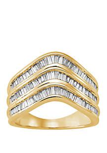Belk & Co. 1 ct. t.w. Baguette Diamond Ring in 10k Yellow Gold