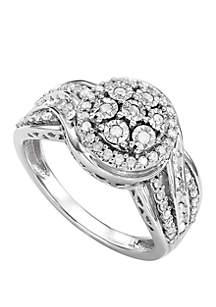 Belk & Co. 1/2 ct. t.w. Diamond Ring in Sterling Silver