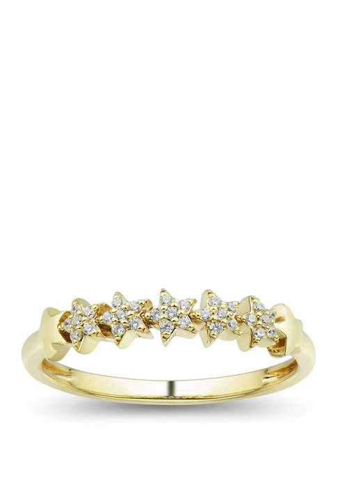 1/10 ct. t.w. Diamond Ring in 10K Yellow Gold