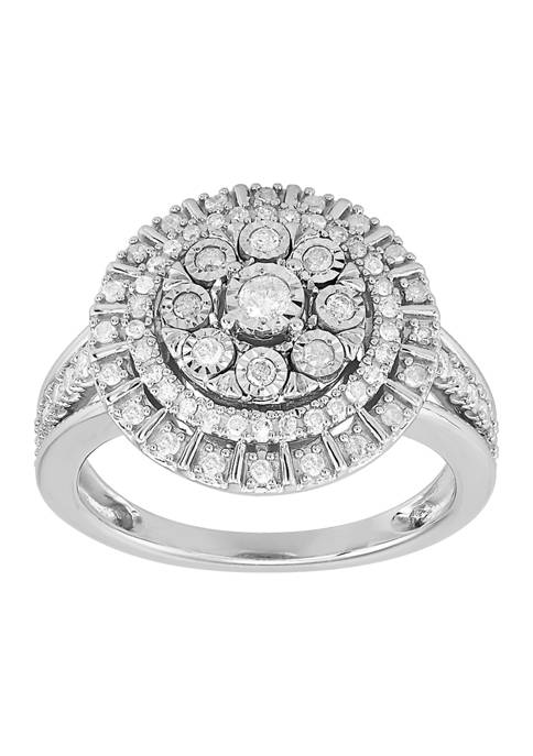 1/2 ct. t.w. Round Diamond Ring in Sterling SIlver