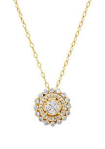 Belk & Co. 1 ct. t.w. Diamond Pendant Necklace in 10k Yellow Gold