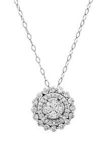 Belk & Co. 1 ct. t.w. Diamond Pendant in 10k White Gold