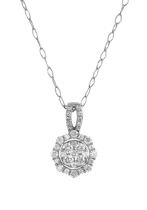 1/2 ct. t.w. Diamond Pendant Necklace in Sterling Silver