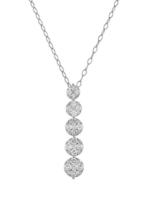 1 ct. t.w. Diamond Pendant in 10K White Gold
