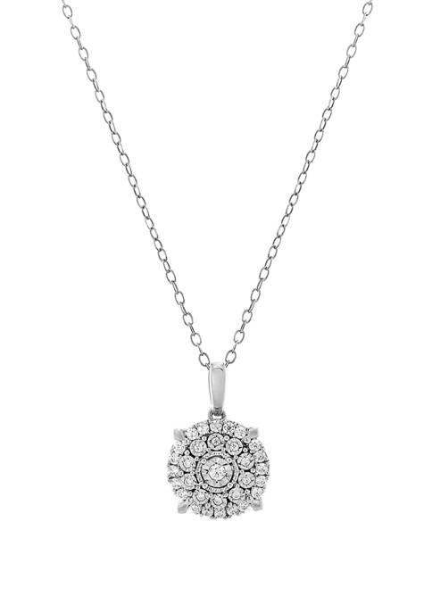 1/3 ct. t.w. Diamond Pendant Necklace in Sterling Silver