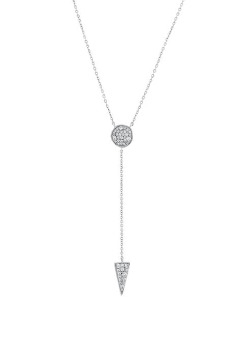 1/4 ct. t.w. Diamond Lariat Necklace in Sterling Silver