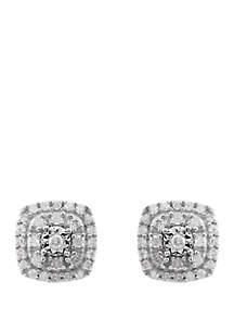 Belk & Co. 1/4 ct. t.w. Diamond Earrings in Sterling SIlver