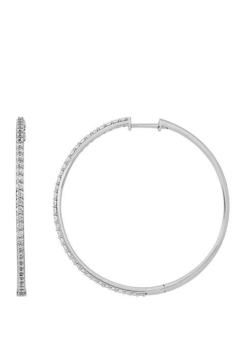 Belk & Co. 1 ct. t.w. Diamond Hoop