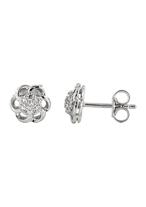 Grown With Love 1/4 ct. t.w. Lab Created Diamond Earrings in 10K White Gold