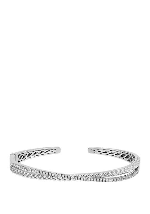 1/2 ct. t.w. Diamond Bracelet in Sterling Silver
