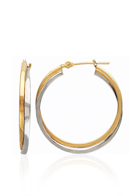 Belk & Co. Double Square Hoop Earrings in