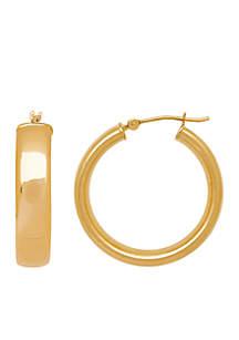 Wedding Band Hoop Earrings in 14K Yellow Gold