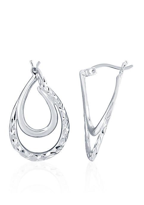 Belk & Co. Sterling Silver Double Pear Shape