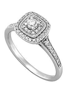 Belk & Co. 1/10 ct. t.w. Diamond Ring in 10k White Gold