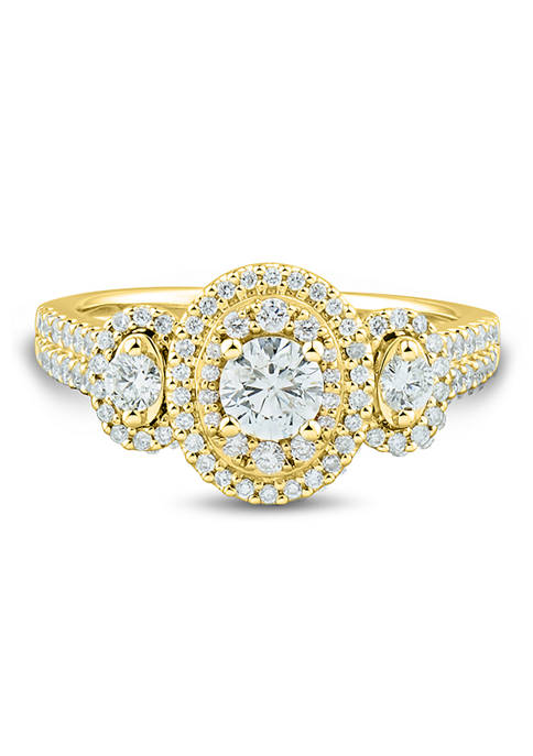 1 ct. t.w Diamond Engagement Ring in 14K Yellow Gold