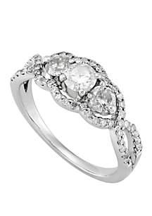 Belk & Co. 1.0 ct. t.w. 3 Diamond Ring in 14k White Gold