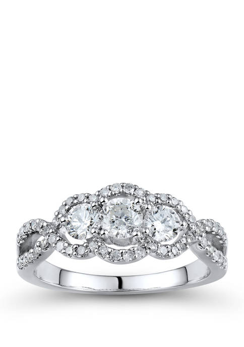 1 ct. t.w. Diamond Ring in 14K White Gold
