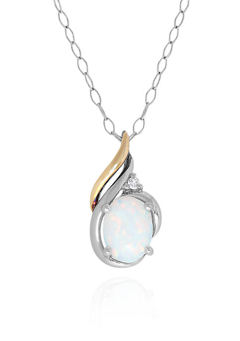 Belk & Co. Created Opal and White Sapphire