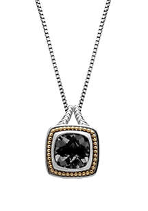 4 ct. t.w. Gemstone Pendant Necklace in Sterling Silver