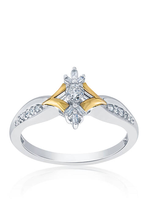 Belk & Co. Diamond Promise Ring in Sterling