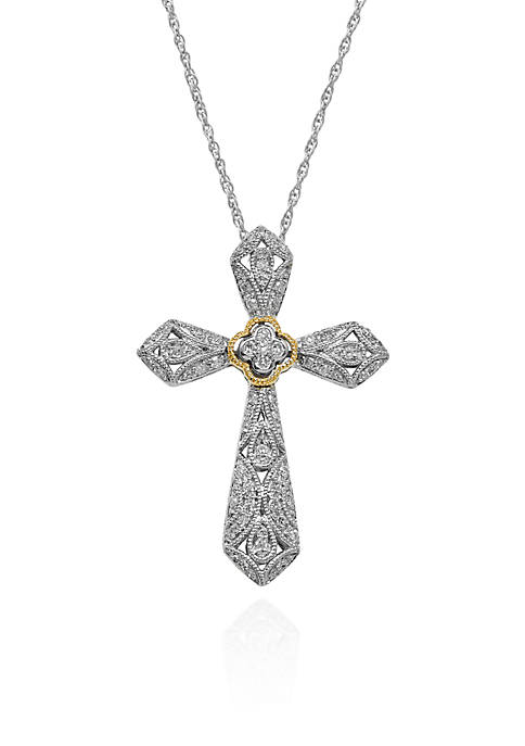 Belk & Co. 0.19 ct. t.w. Diamond Cross