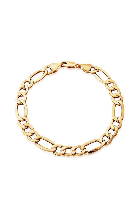 Belk & Co. Mens Figaro Bracelet in 10K