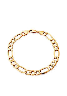 Figaro Bracelet in 10K Yellow Gold